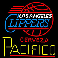 Cerveza Pacifico Los Angeles Clippers NBA Beer Sign Neon Sign