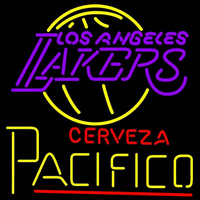 Cerveza Pacifico Los Angeles Lakers NBA Beer Sign Neon Sign