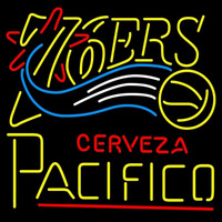 Cerveza Pacifico Philadelphia 76ers NBA Beer Sign Neon Sign