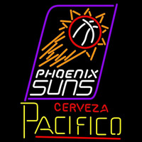 Cerveza Pacifico Phoenix Suns NBA Beer Sign Neon Sign