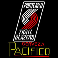 Cerveza Pacifico Portland Trail Blazers NBA Beer Sign Neon Sign