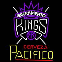 Cerveza Pacifico Sacramento Kings NBA Beer Sign Neon Sign