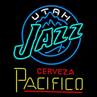 Cerveza Pacifico Utah Jazz NBA Beer Sign Neon Sign