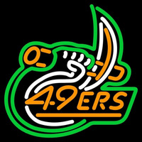 Charlotte 49ers Primary 1998 Pres Logo NCAA Neon Sign Neon Sign