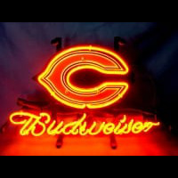 Chicago Bears Football Budweiser Neon Sign Neon Sign