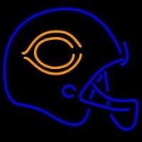 Chicago Bears Football Helmet Neon Sign Neon Sign