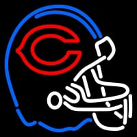 Chicago Bears Helmet   Logo NFL Neon Sign Neon Sign