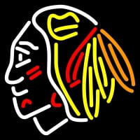 Chicago Blackhawks Primary Pres Logo NHL Neon Sign Neon Sign
