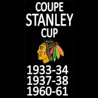 Chicago Blackhawks Stanley Cup Champions Hockey Neon Sign Neon Sign