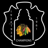 Chicago Blackhawks Stanley Cup Champions Lapel Hockey Neon Sign Neon Sign