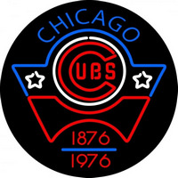 Chicago Cubs Anniversary 1976 Logo MLB Neon Sign Neon Sign