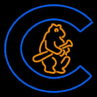 Chicago Cubs Primary 1908 1910 Logo MLB Neon Sign Neon Sign