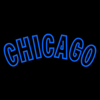 Chicago Cubs Wordmark 1958 1968 Pres Logo MLB Neon Sign Neon Sign