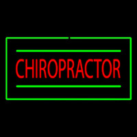 Chiropractor Rectangle Green Neon Sign