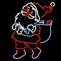 Christmas Santa Gifts Neon Sign