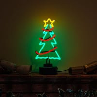 Christmas Tree 2 Desktop Neon Sign