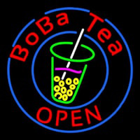 Circle Boba Tea Neon Sign