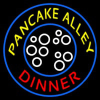 Circle Pancake Alley Dinner Neon Sign
