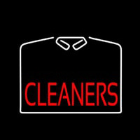 Cleaners With White Shirt Neon Sign