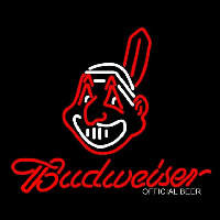 Cleveland Indians Chief Wahoo Budweiser Neon Sign Neon Sign