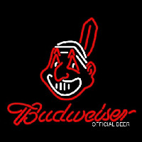 Cleveland Indians Chief Wahoo Budweiser Neon Sign