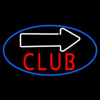 Club With Arrow Neon Sign