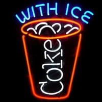 Coca Cola Coke With Ice Beer Bar Neon Light Sign Neon Sign