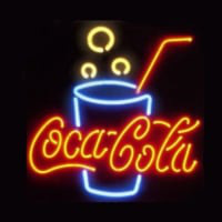 Coca Cola Glass Neon Sign