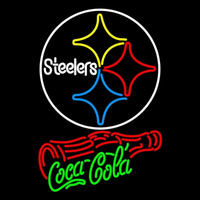 Coca Cola Pittsburgh Steelers Logo Bottle NFL Neon Sign Neon Sign