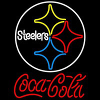 Coca Cola Pittsburgh Steelers Logo Red Text NFL Neon Sign Neon Sign