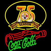 Coca Cola Pittsburgh Steelers th Season Bottle NFL Neon Sign Neon Sign