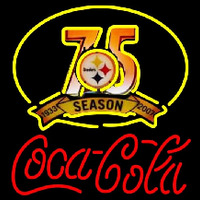 Coca Cola Pittsburgh Steelers th Season Red Text NFL Neon Sign Neon Sign