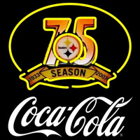 Coca Cola Pittsburgh Steelers th Season White NFL Neon Sign Neon Sign