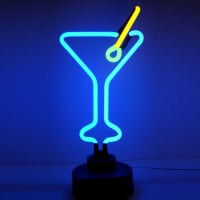 Cocktail Glass Destop Neon Sign