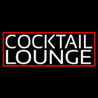 Cocktail Lounge With Red Border Neon Sign