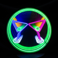 Cocktails Glasses 3D Infinity LED Neon Sign