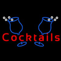Cocktails With Two Glasses Neon Sign