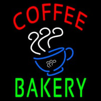 Coffee Bakery With Coffee Cup Neon Sign