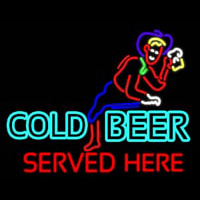 Cold Beer Served Here Real Neon Glass Tube Neon Sign