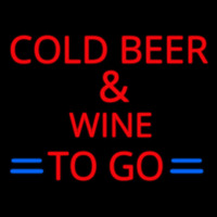 Cold Beer and Wine To Go Neon Sign