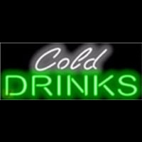 Cold Drinks Barbeque Neon Sign
