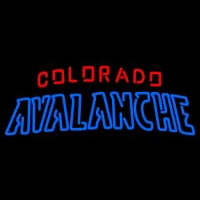 Colorado Avalanche Wordmark Logo NHL Neon Sign Neon Sign