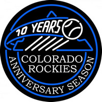 Colorado Rockies Anniversary 2002 Logo MLB Neon Sign Neon Sign