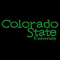 Colorado State Rams Wordmark Pres Logo NCAA Neon Sign Neon Sign