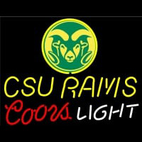 Colorado State University Rams Logo Coors Light Neon Sign Neon Sign