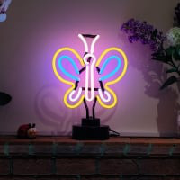 Colorful Butterfly Desktop Neon Sign