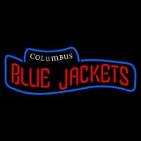 Columbus Blue Jackets Wordmark Logo NHL Neon Sign Neon Sign