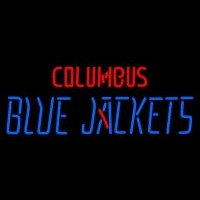Columbus Blue Jackets Wordmark Pres Logo Nhl Neon Sign Neon Sign