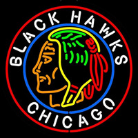 Commemorative Chicago Blackhawks Neon Sign Neon Sign