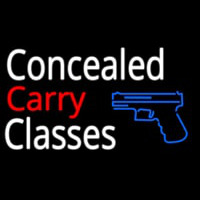 Concealed Carry Classes Neon Sign